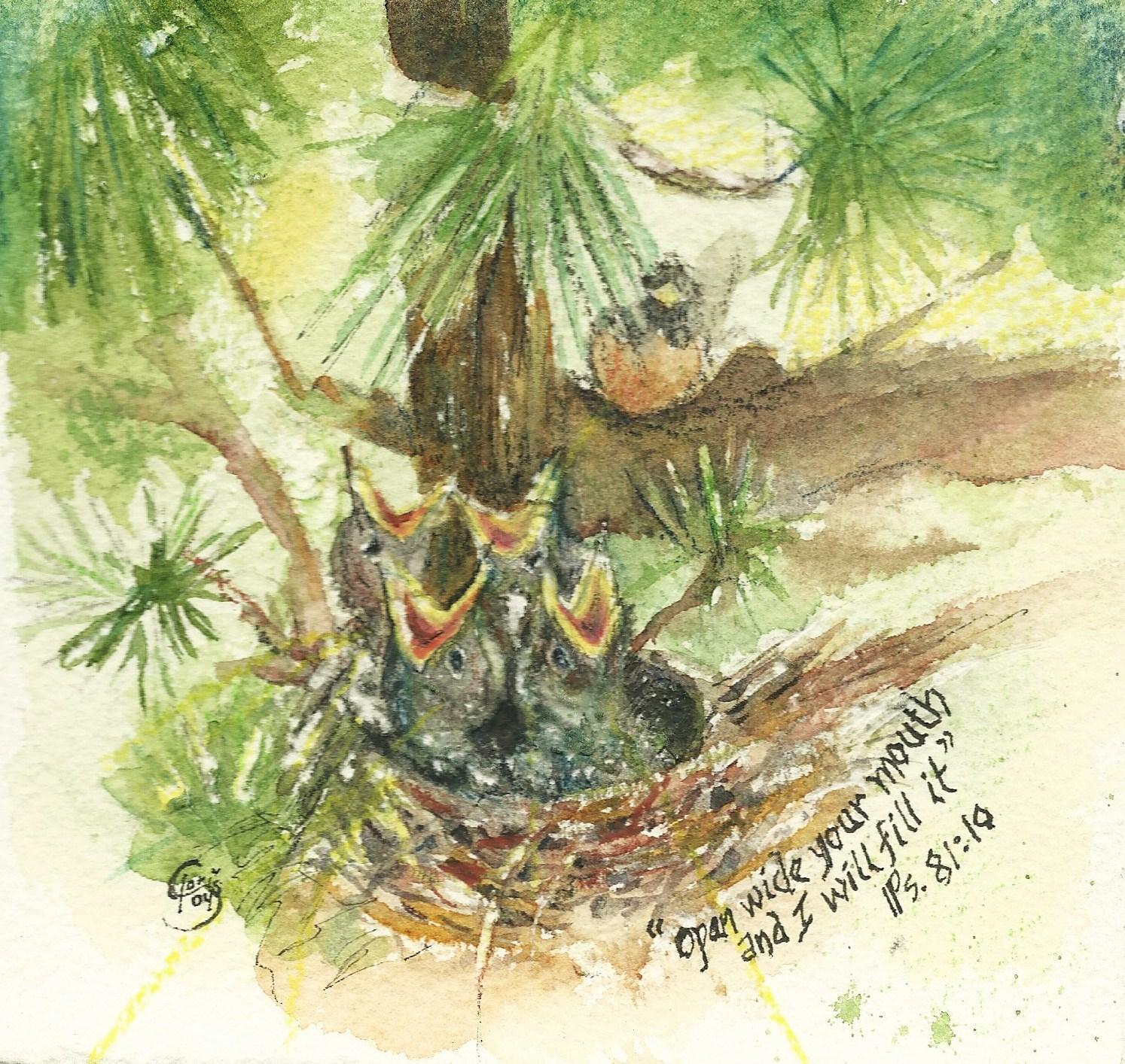 Robin Watercolor, Gloris Young