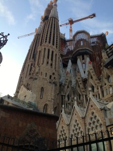 Side view of La Sagrada Familia