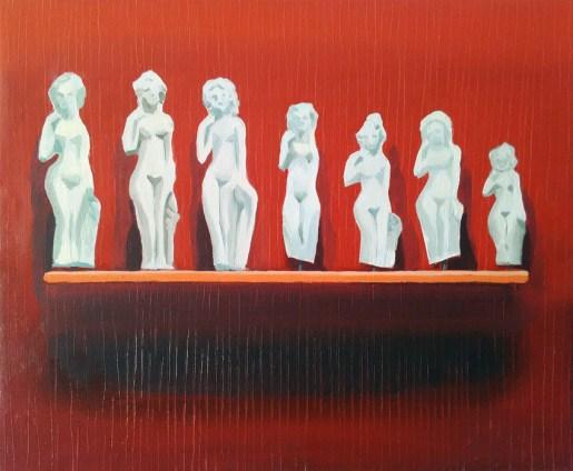"""GloriaMartín. """"Venus"""". Óleo sobre lienzo 36x48cm."""