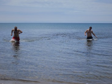 Swimming in Lake Huron