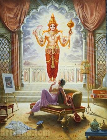 Kunti invokes Lord Surya