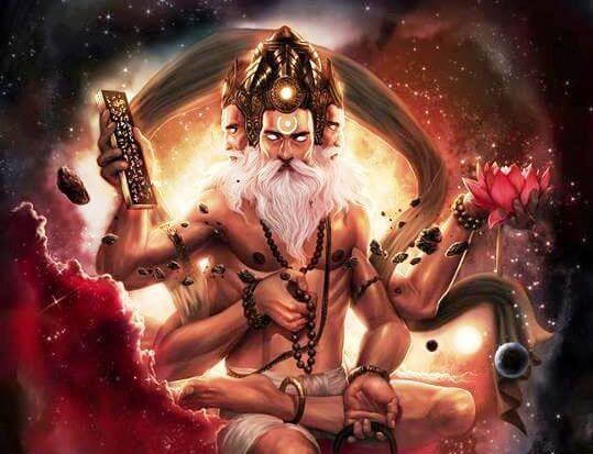 Lord Brahma in space