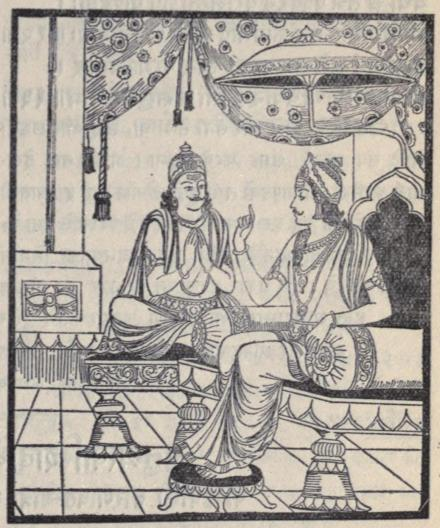 Duryodhana tells Purochana his evil plan in the palace