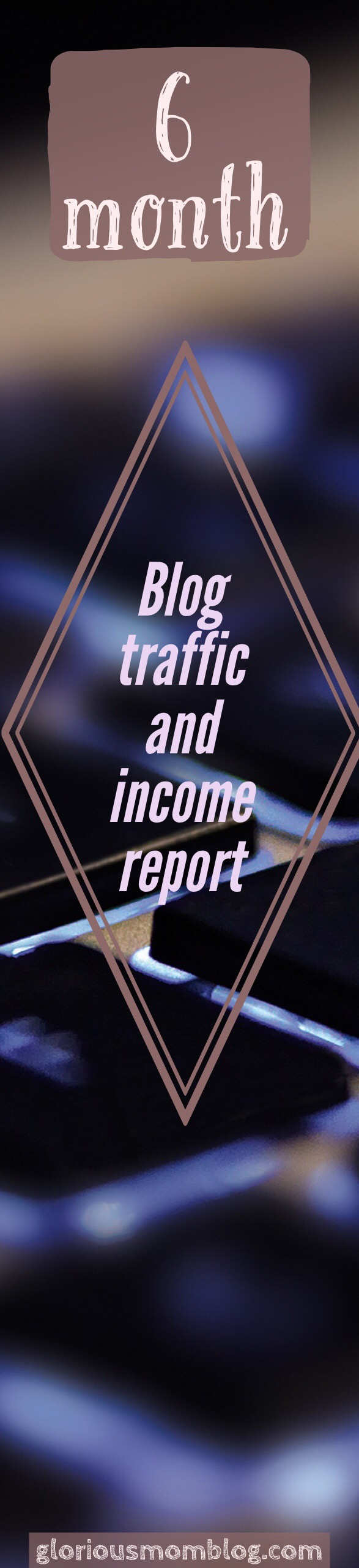 6 months traffic and income report: find out how the Glorious Mom Blog has been doing and maybe learn a thing or two! Check it out at gloriousmomblog.com.