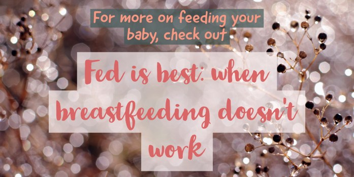 Breastfeeding resources: Check out this post: Fed is best: when breastfeeding doesn't work. Is it really okay to give your baby formula? Read it at gloriousmomblog.com.