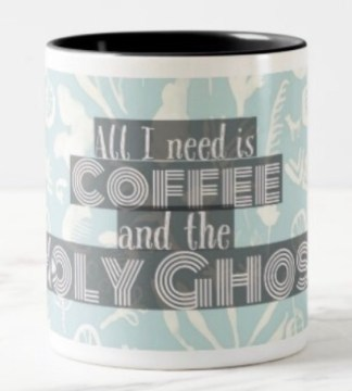 As a mom, I don't get much sleep! But with coffee and the Holy Ghost, I can accomplish great things, which is why every coffee-drinking mama needs this mug. Because kids.