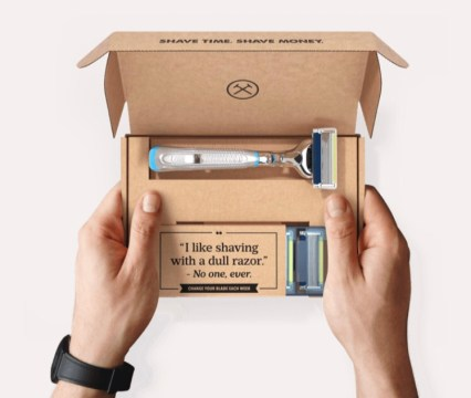 The perfect Father's Day gift for the person who likes to get stuff in the mail, and doesn't want to worry about a dull razor. Dollar Shave Club!