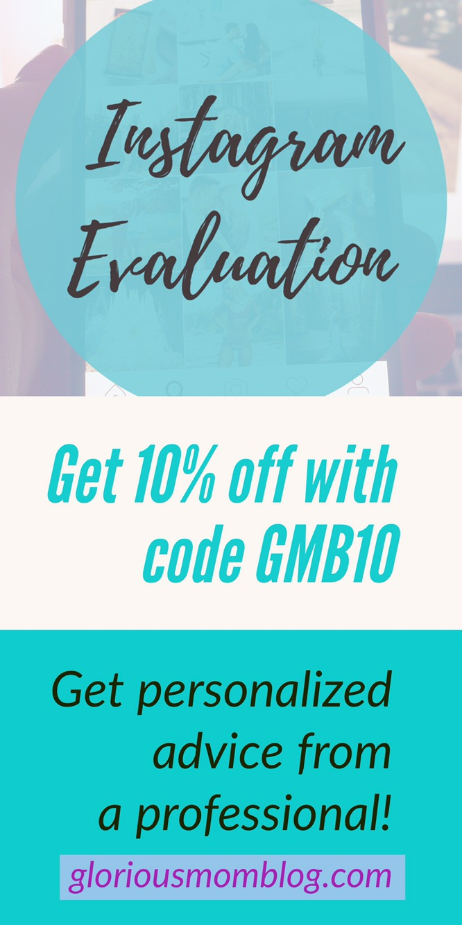 Instagram evaluation: get your account looked at by a professional who will give you personalized advice on what changes to make to get more engagement and expand your reach. Get 10% off with my affiliate code GMB10.