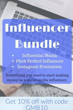 If you are an influencer struggling to get sponsored posts or an aspiring Influencer who doesn't know where or how to start... this bundle is for YOU! Use my affiliate code GMB10 to get 10% off this already great deal.