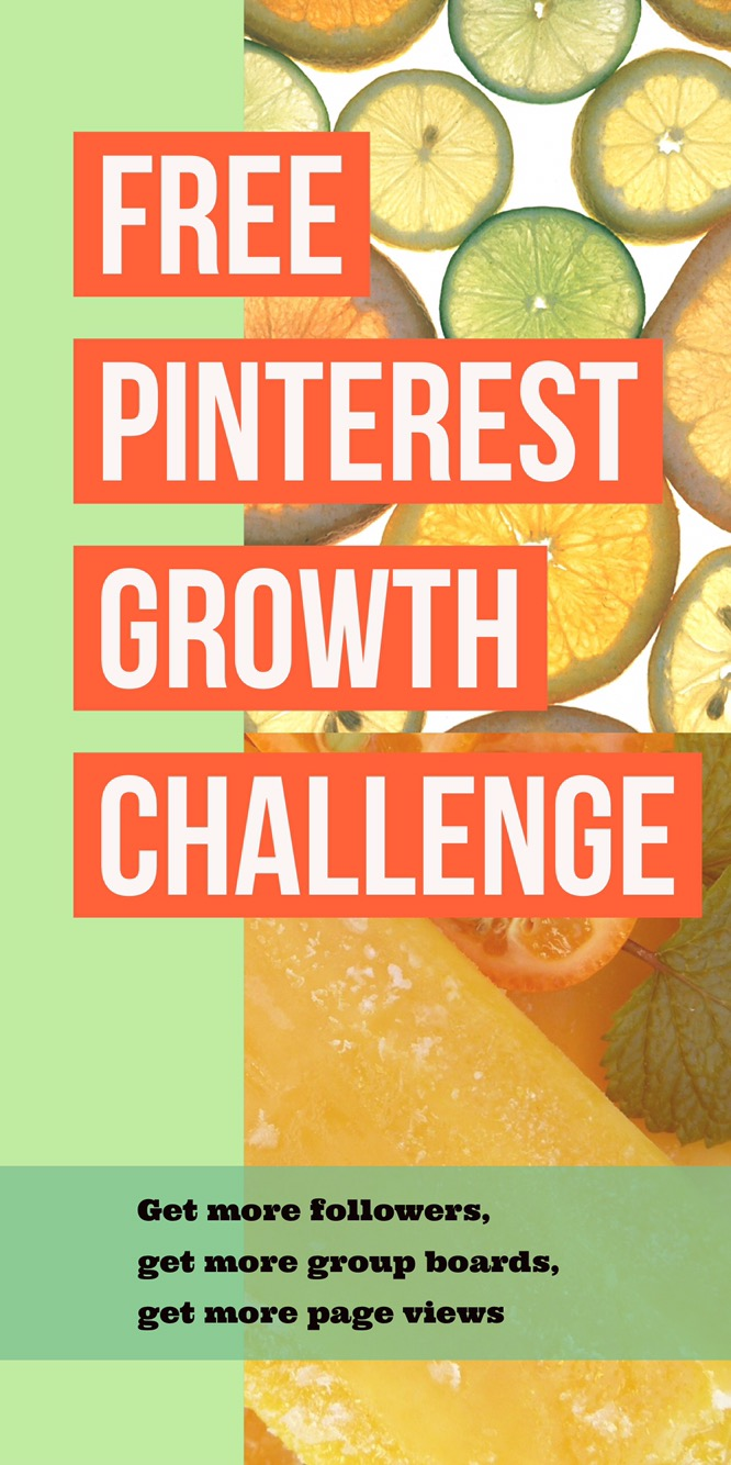 Free Pinterest Growth Challenge for bloggers! This seven day email challenge will help you learn how to use Pinterest and help you expand your influence by gaining more followers, click-throughs and repins, and by getting on more group boards. Check it out at gloriousmomblog.com.