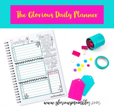 The Glorious Daily Planner: a digital planner with scripture verse designs you can color!