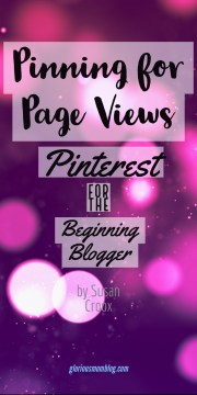 Pinning for page views: Pinterest for the beginning blogger. A Pinterest ebook designed to help you navigate the platform and learn all the quirks to help you grow your following and increase your blog's referrals from Pinterest.