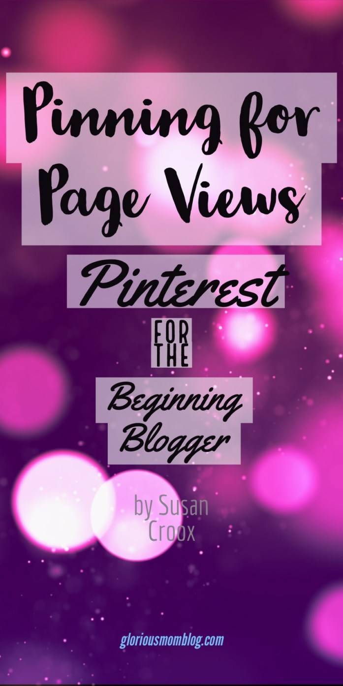 Pinning for Page Views: Pinterest for the Beginning Blogger. This eBook is only $9.99 and shares the basics of Pinterest in detail, provides regular recaps with simple assignments, and also shares Pinterest secrets, all to help you grow your influence through Pinterest. If you want to really wrap your brain around Pinterest, and gain the tools to become a pro, visit gloriousmomblog.com to get your own copy!