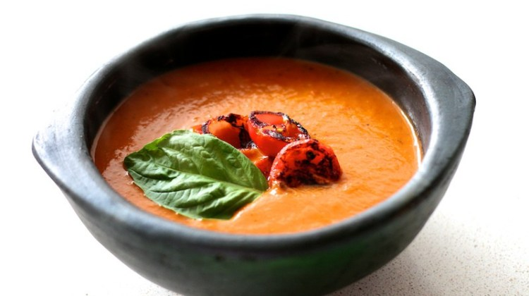 Hearty Hot or Cold Roasted Tomato Soup Recipe