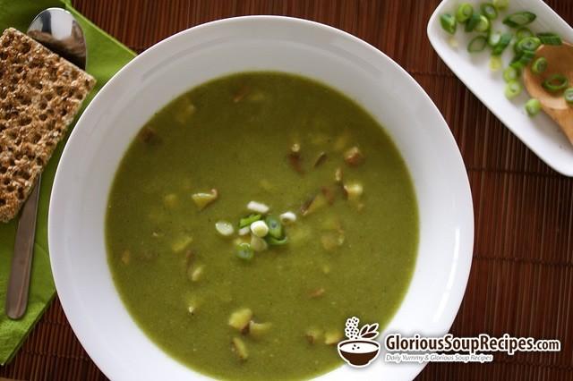 Creamed Broccoli and Mushroom Soup