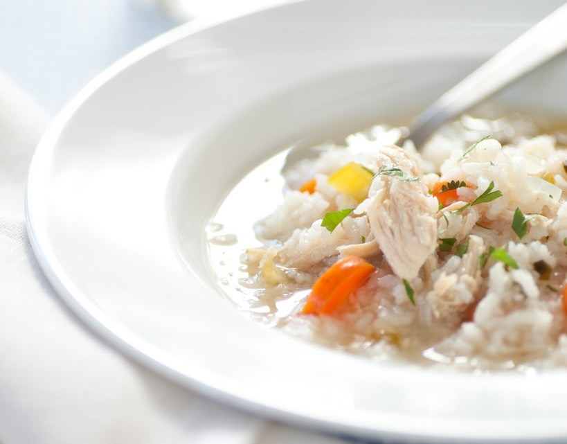 Spicy Chicken Rice Soup