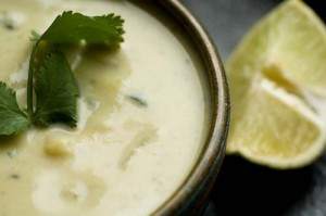 Green chille soup recipe