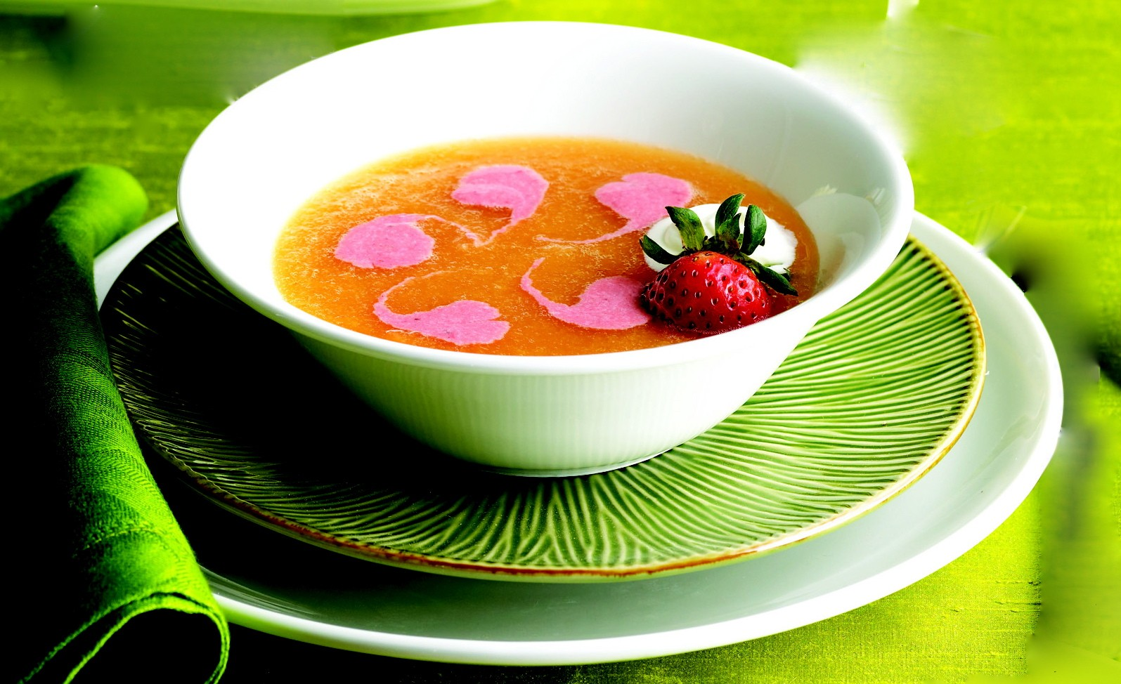 Chilled Cantaloupe Soup Recipe Glorious Soup Recipes Pour soup into melon bowls and swirl in a teaspoon of sour cream as a garnish. glorious soup recipes