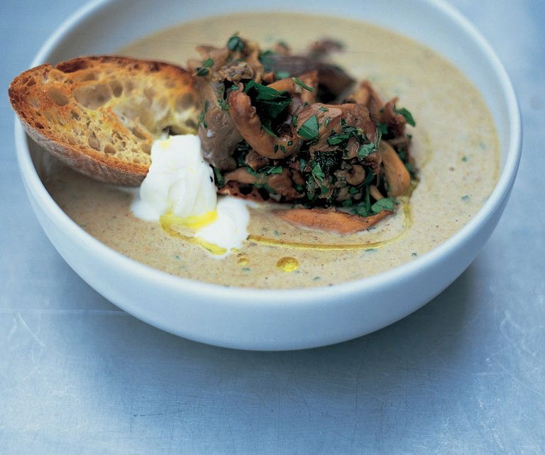Shiitake Mushroom and Cheddar Soup Recipe