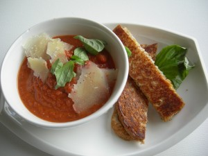 Tomato Cold Soup with Parmesan Cheese Ice Cream Recipe