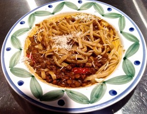 Recipe For Pasta with Lentil Soup Sauce