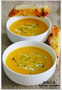 Recipe For Pumpkin, Sweet Potato, and Leek Soup