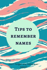 Tips to remember names