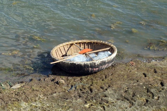 Coracle at Hogenakkal falls