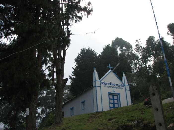 Church at Dolphins Nose Trek Start Point kodaikanal