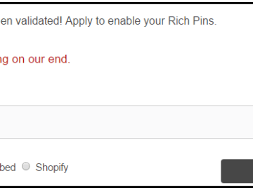 "Pinterest Rich Pin Validator ""Something is wrong at our end"" - Pinterest error message"