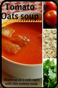 Tomato Oats soup recipe is a easy, tasty, quick and super healthy soup for your winter nights. Add more fiber from the oats to your diet through this yummy soup too!