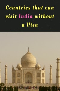 List of countries that can visit India without a visa are listed in this article.