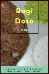 Ragi Dosa Recipe. Ragi aka Finger millet is a healthy cereal. Try this yummy recipe to satisfy your dosa cravings.