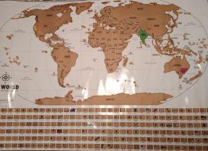 Travel tracker map scratch off map from Landmass goods