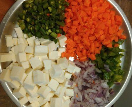 paneer fried rice recipe ingrecients