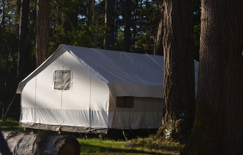 Glamping at Mendocino Grove is magical