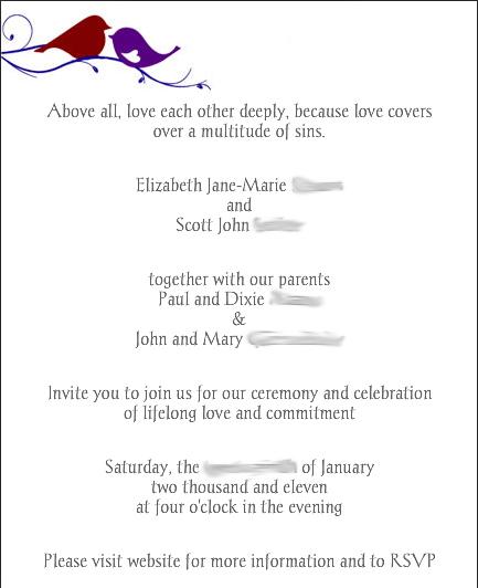 Elizabeth And Scott Glövite Email Wedding Invitation