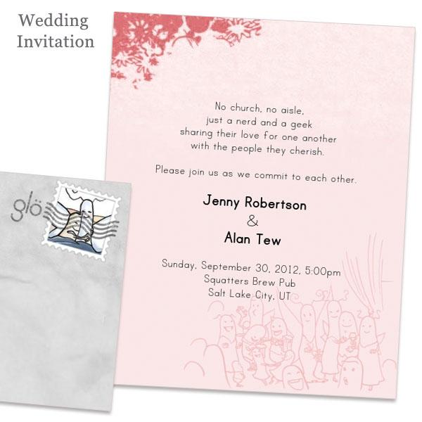 Jenny And Alan S Glosite Wedding Invitations Design
