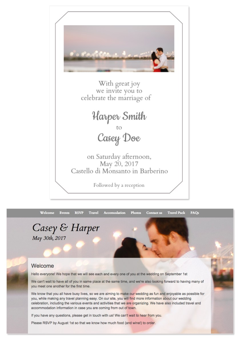 Glosite Your Image Wedding Email Invitation Design Template