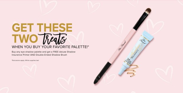 Too Faced Cosmetics Canada Free Make-up Brush and Primer - Glossense