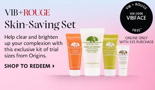 Sephora Canada VIB Rouge April 2018 Gift Canadian Origins Skincare Skin Care - Glossense