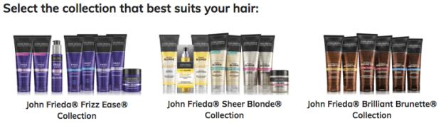 John Frieda Canada Free Hair Care Samples - Glossense