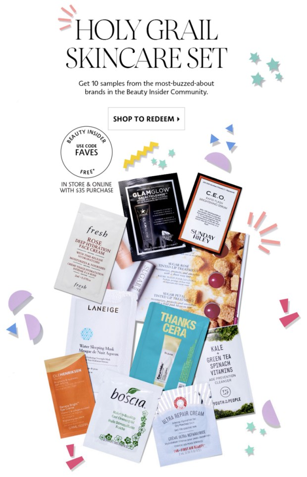 Sephora Canada Beauty Insider Free Holy Grail Skincare Set Free Samples - Glossense