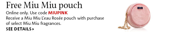Sephora Canada Free Miu Miu Pouch Clutch - Glossense