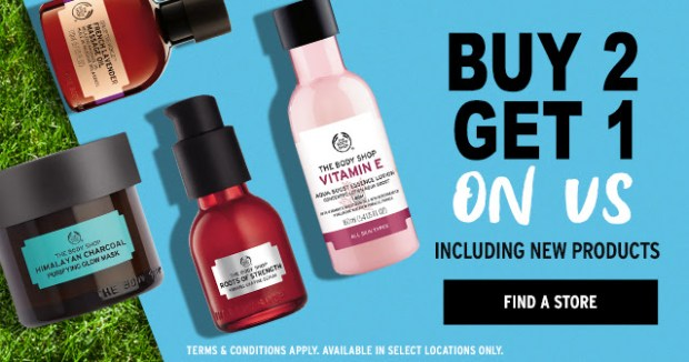 The Body Shop Canada Buy 2 Get 1 Free May 2018 - Glossense