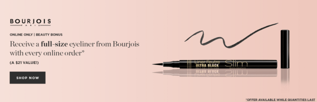Beauty Boutique Canada Free Full Size Bourjois Eyeliner - Glossense