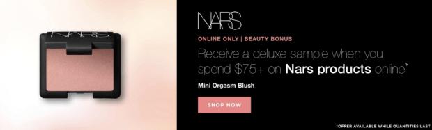 Beauty Boutique Canada Nars Beauty Bonus Free Mini Nars Orgasm Blush - Glossense