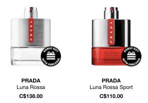 4a643c457cd7 SEPHORA CANADA PROMO CODES: Free Prada Luna Rossa Sport Perfume Mini ...