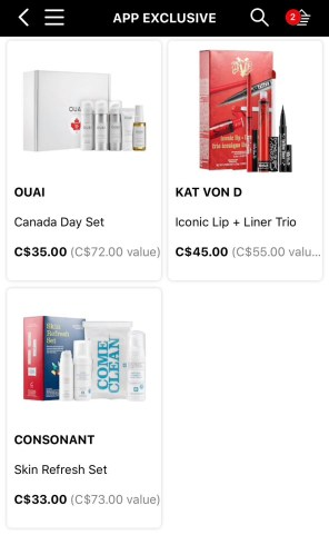Sephora Canada Day App First Exclusives Canadian Deals - Glossense