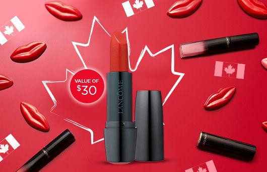 Lancome Canada Day Free Lipstick Offer 2018 - Glossense